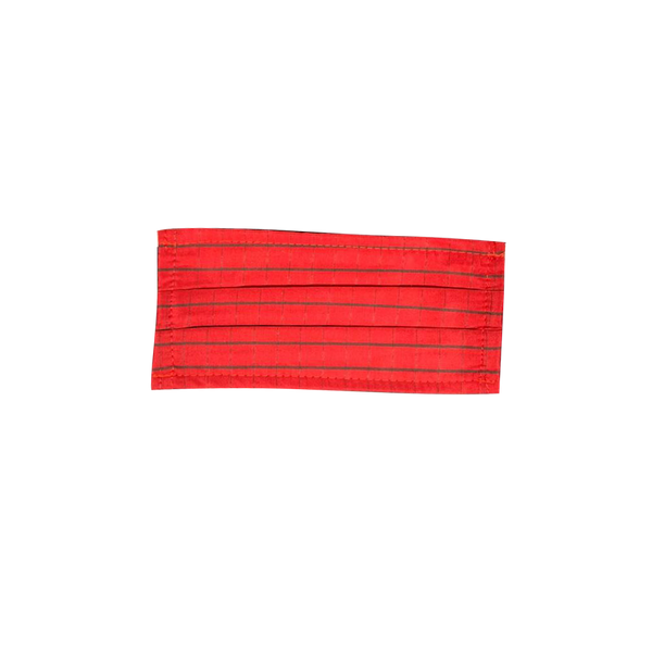 10pcs TRIPLE LAYER - POLY COTTON - Non medical fabric masks - pack of 10 Red Striped Masks