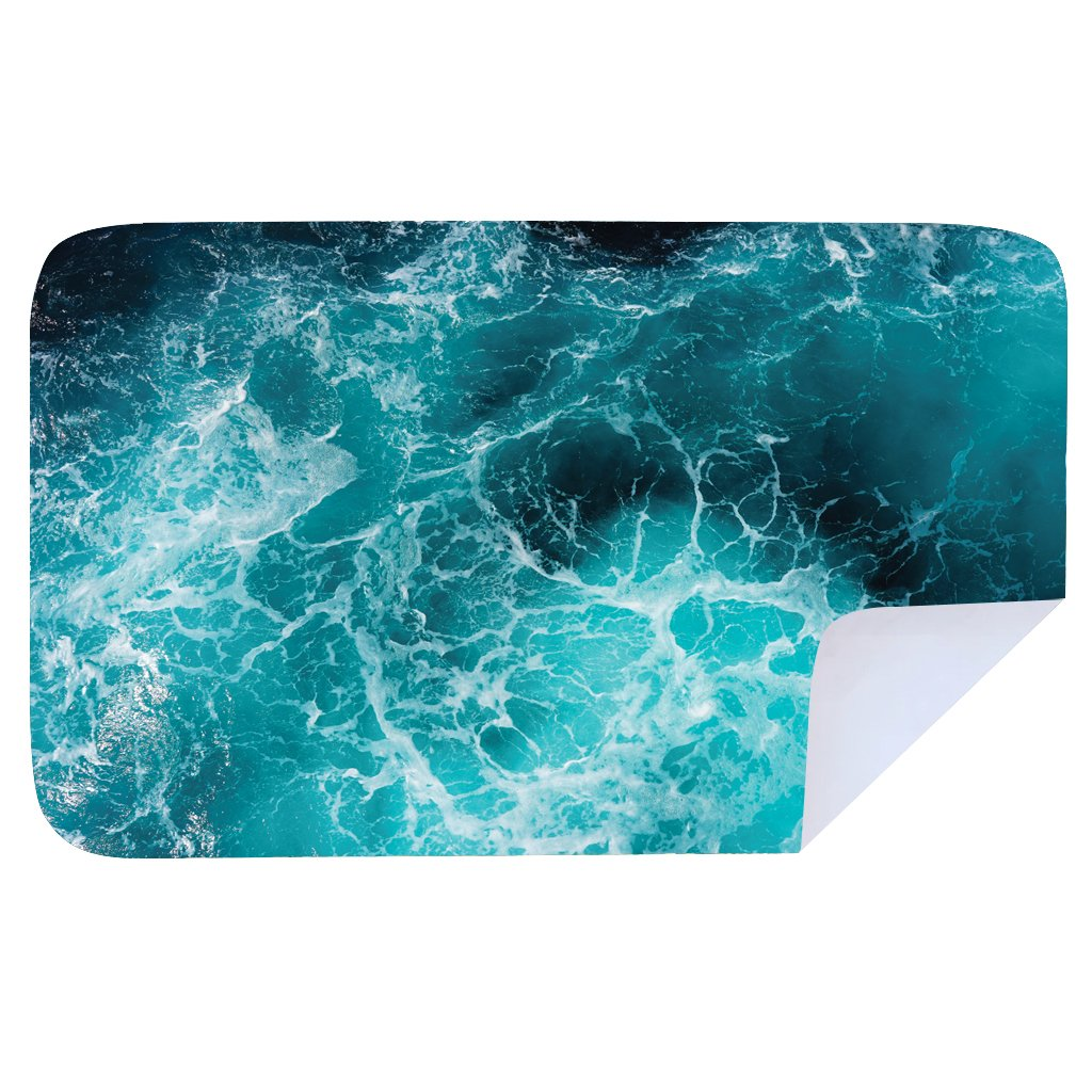 Microfibre XL Printed Towel - Dark sea