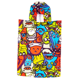 Microfibre Kids After swim Hoodie - Monsters