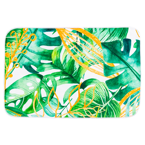 NEW - Microfibre Placemats - Double sided - Green Leaf Jungle