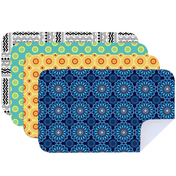 Microfibre Printed Shwe Shwe Bright Tea Towels - Pack Of 4