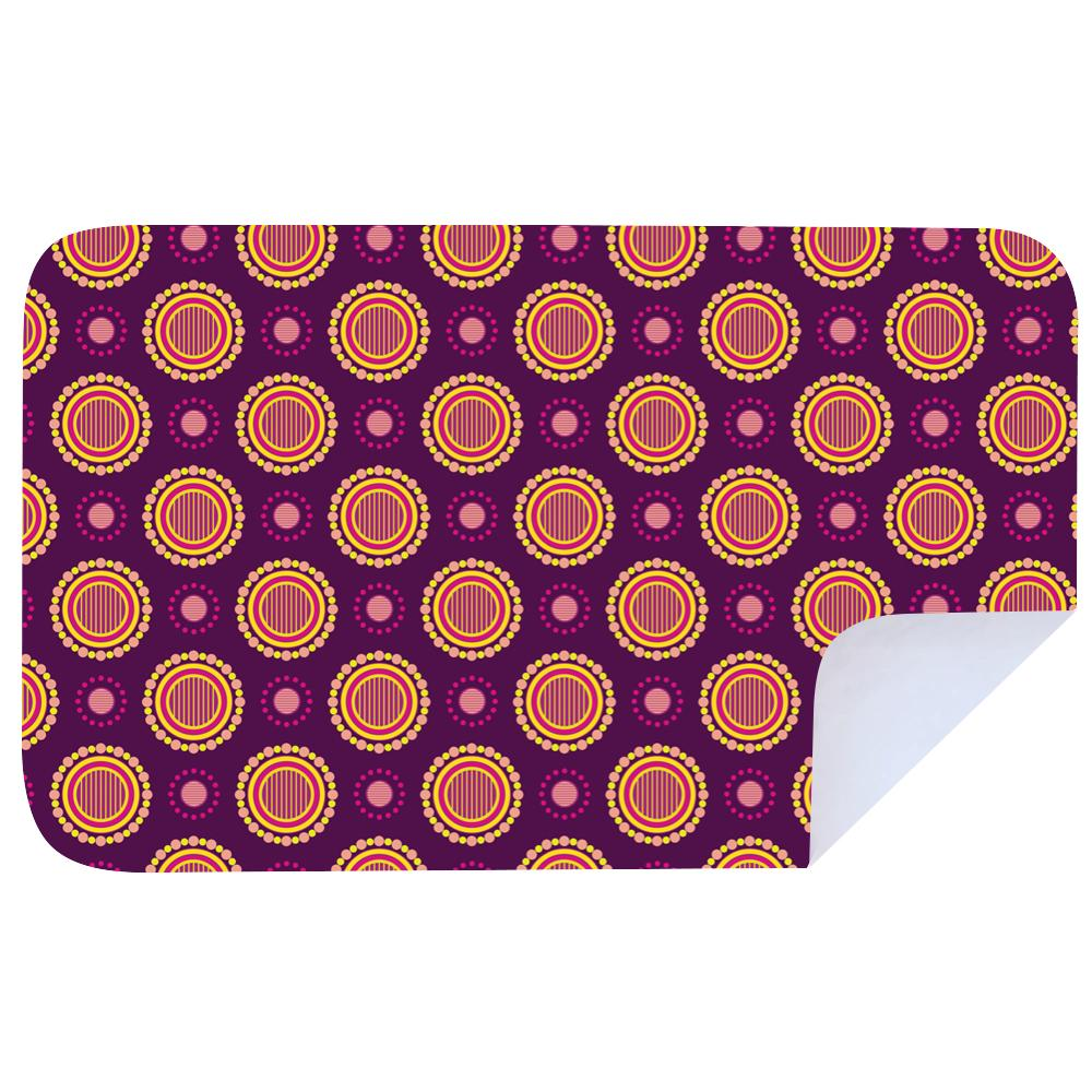 Microfibre XL Printed Towel - Shweshwe Magenta Yellow dots / Lumo Yellow