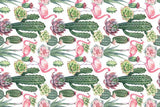 Microfibre XL Printed Towel - Cactus Flamingo
