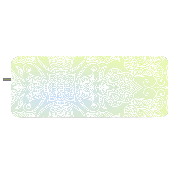 Microfibre Yoga Towel - Green boho