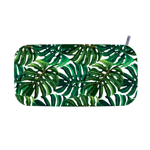 Microfibre Printed Gym Towel - Big Green Leaves