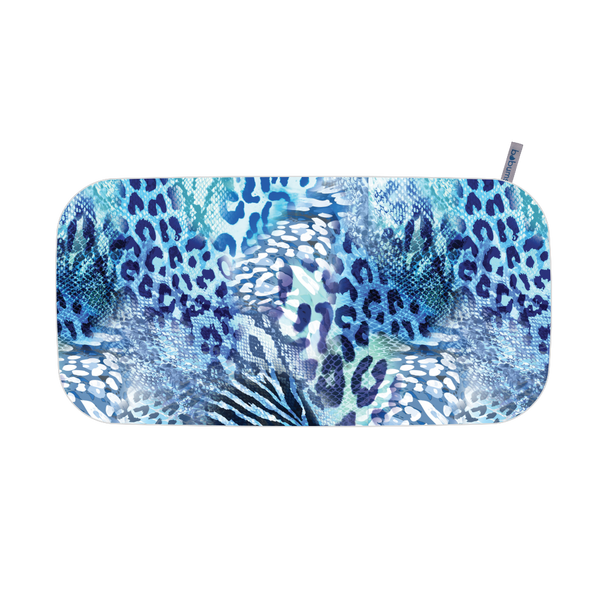 Microfibre Printed Gym Towel - Blue leopard