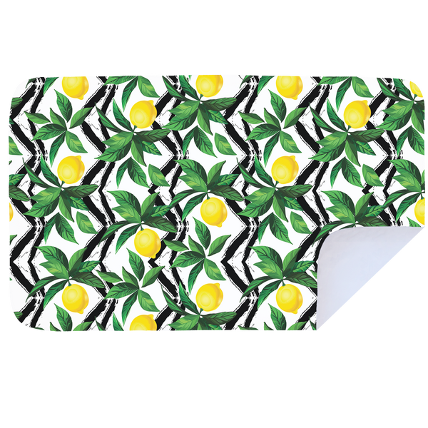 Microfibre XL Printed Towel - Lemon Trellis