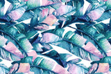 Microfibre XL Printed Towel - Pink Banana Leaves