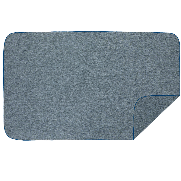 Microfibre XL Beach Towel - Dark Grey Melange / Navy