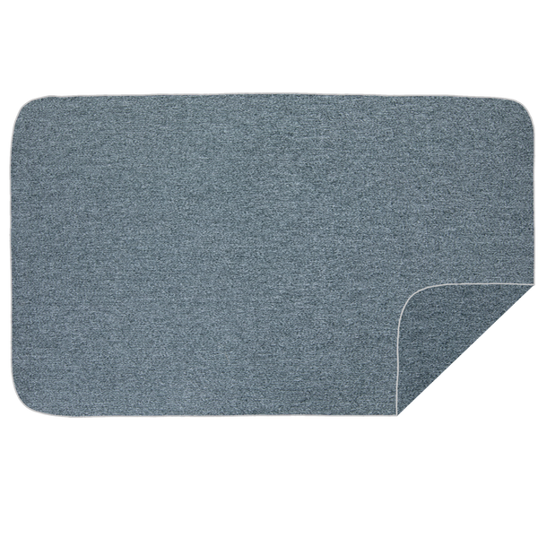 Microfibre XL Beach Towel - Dark Grey Melange / White
