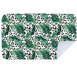Microfibre XL Printed Towel - Leopard Green Leaf