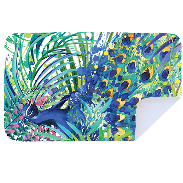 Microfibre XL Printed Towel - Peacock