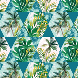 Microfibre Printed Beach Blanket - Geo Palm