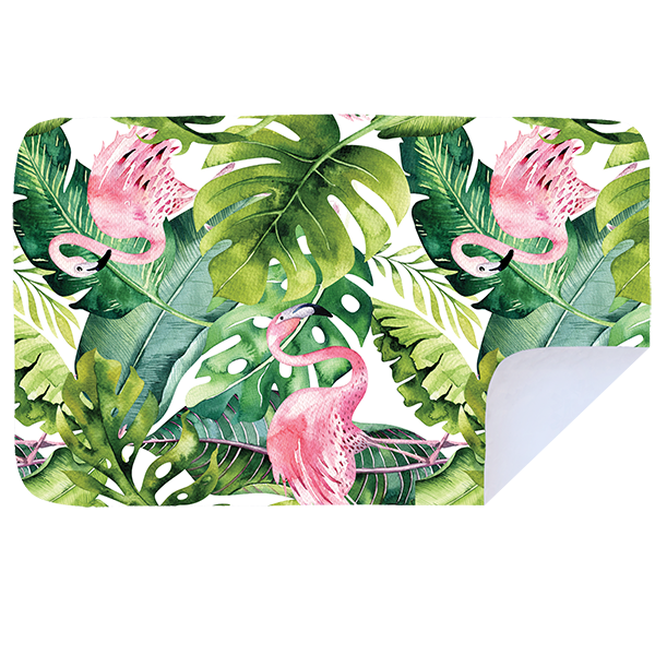 Microfibre XL Printed Towel - Pink Jungle Flamingo