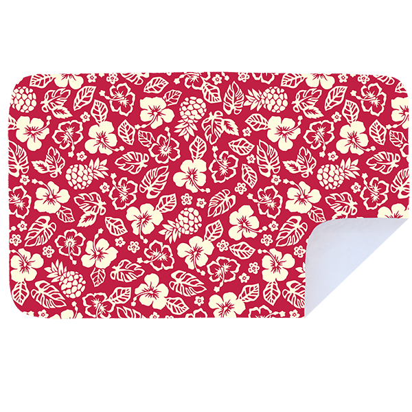 Microfibre XL Printed Towel - Red hibiscus