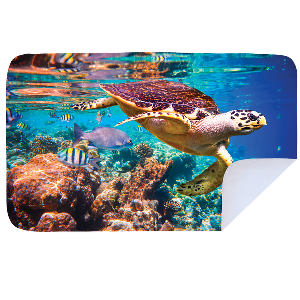 Microfibre XL Printed Towel - Sea Turtle