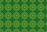 Microfibre XL Printed Towel - Shweshwe Green Flowers / Navy trim