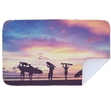 Microfibre L Printed Towel - Surfer Sunset