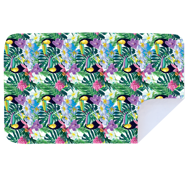 Microfibre XL Printed Towel - Toucan Leaves