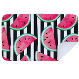 Microfibre L Printed Towel - Watermelon Black Stripe