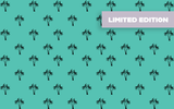 Microfibre XL Limited Edition Printed Towel - Seafoam