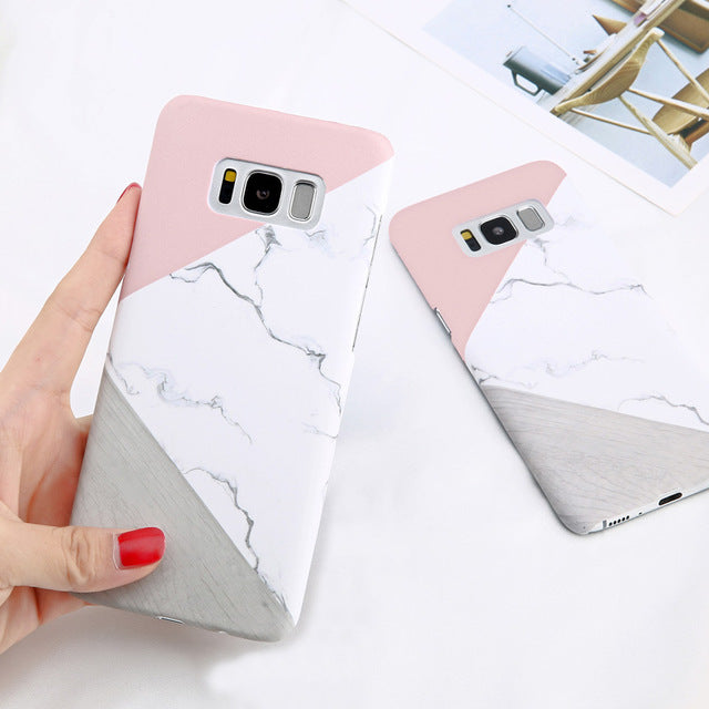 new arrivals 18adb 85aa3 Marble Phone Case For Samsung Galaxy S6 S7 Edge S8 Plus