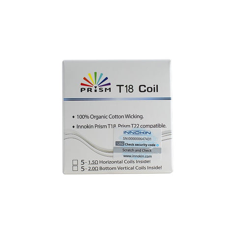 Prism T-18 Replacement Coils 1.5ohm (5 pack) - Innokin