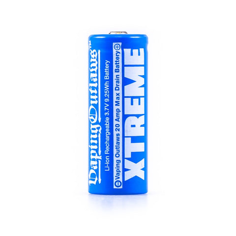 Vaping Outlaws - Xtreme 18500 1100mAh Battery