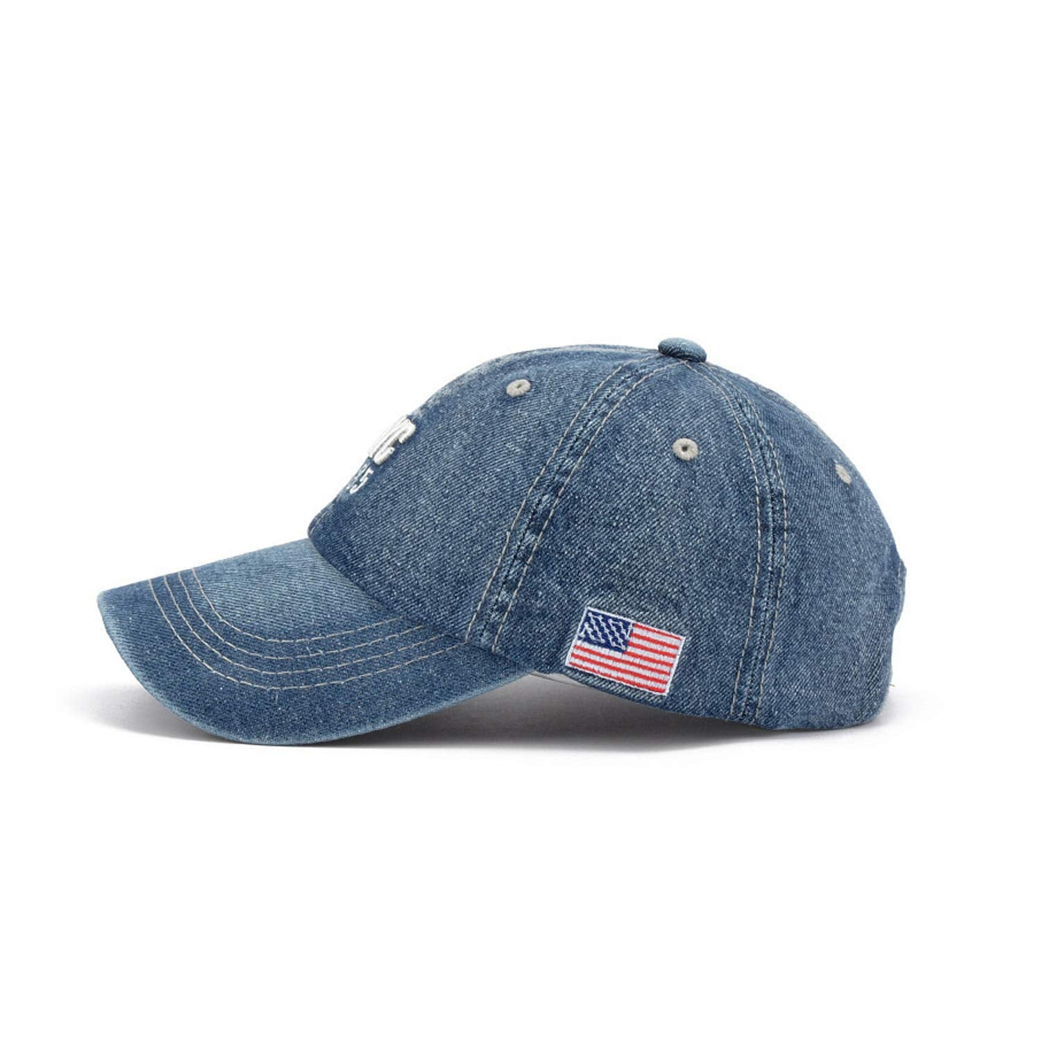 CORIRESHA Classic Embroidery Denim Baseball Cap