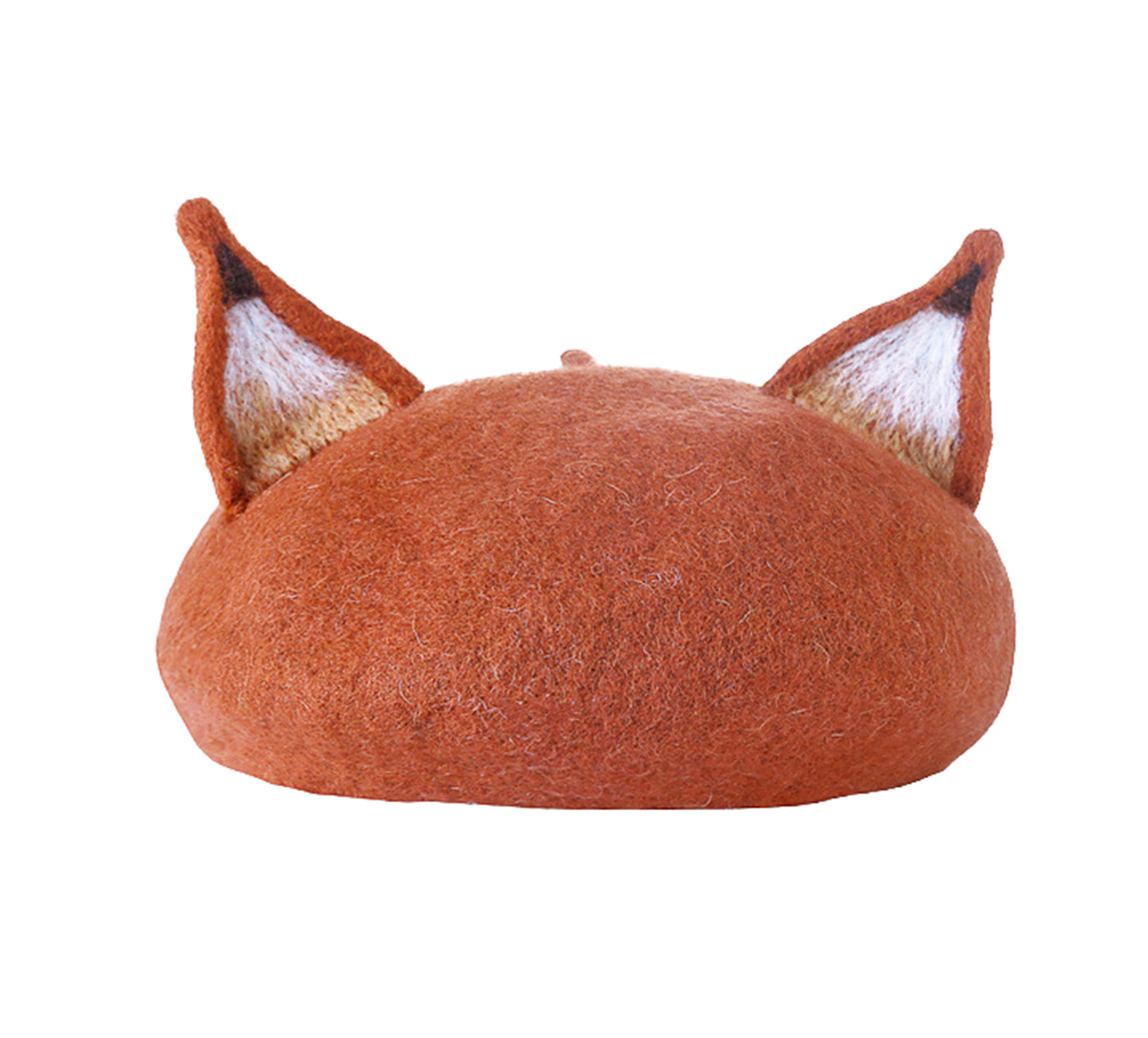 Vintage Handmade Nick Fox Ear Beret Hat