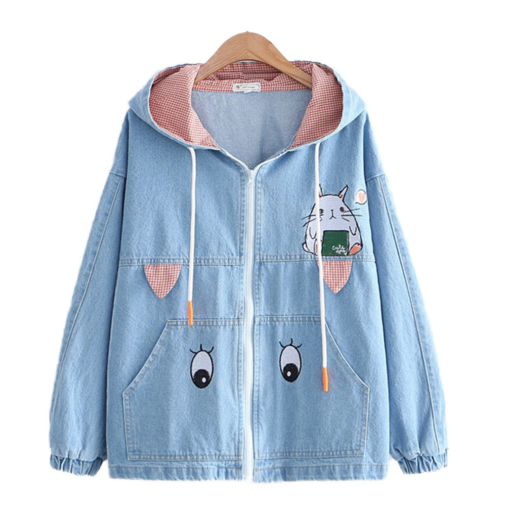 CORIRESHA Rabbit Ears Jean Coat
