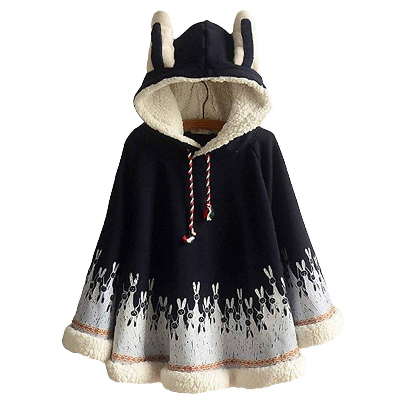CORIRESHA Mori Girl Rabbit Cape