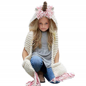 CORIRESHA Unicorn Knitted Scarf Hat