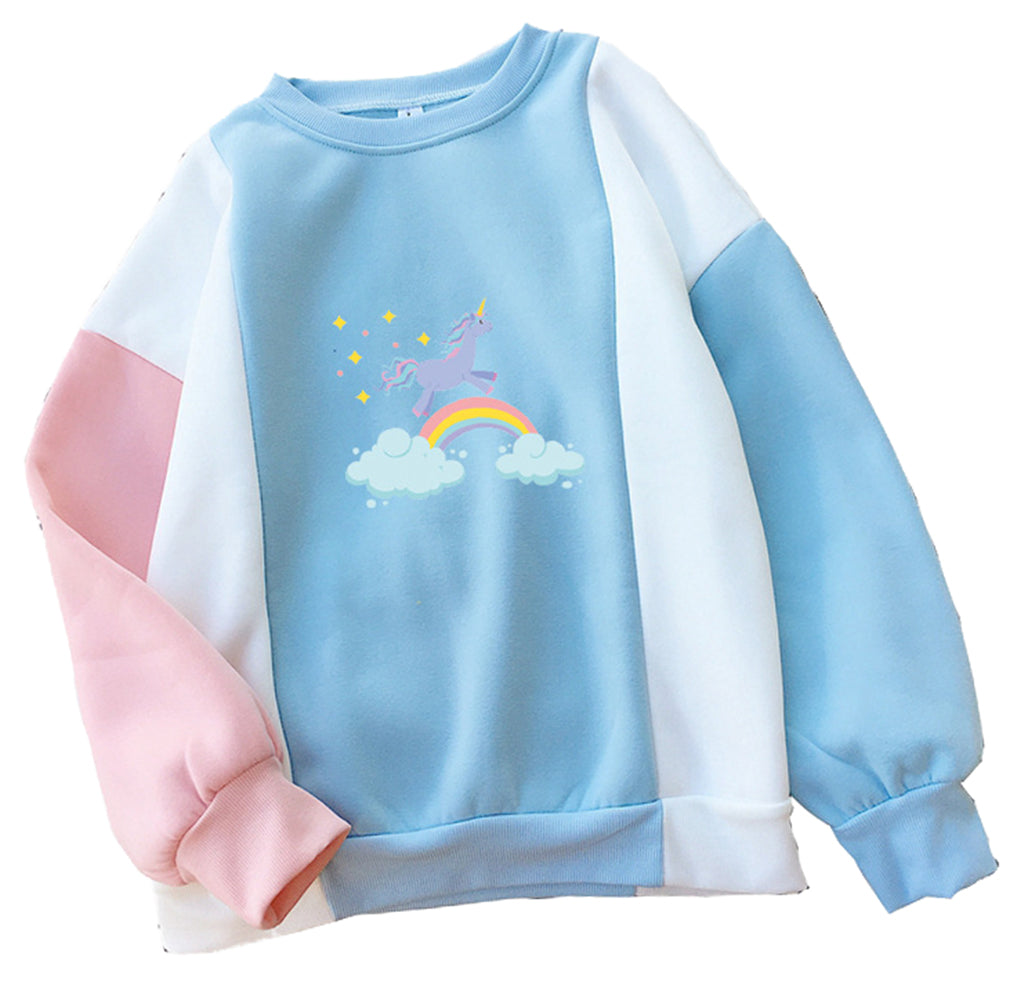 CORIRESHA Kawaii Cute Unicorn Printed Sweatshirt