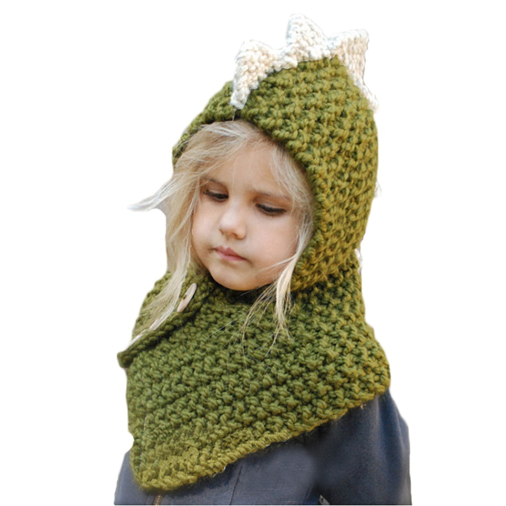 CORIRESHA Kids Crochet Animal Hat with Scarf