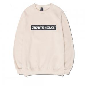 CORIRESHA Basic Slogan Sweatshirt