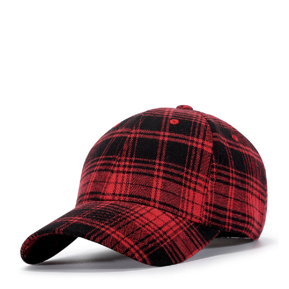 CORIRESHA Plaid Baseball Cap