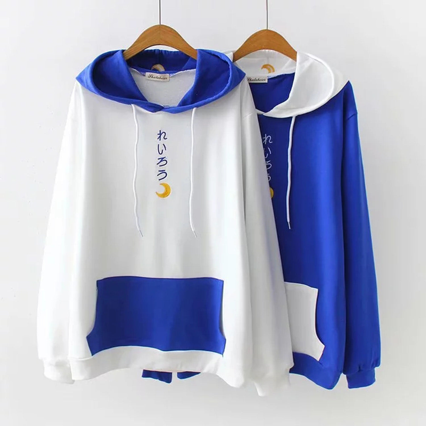 CORIRESHA Color Block Sailor Moon Style Print Hoodie
