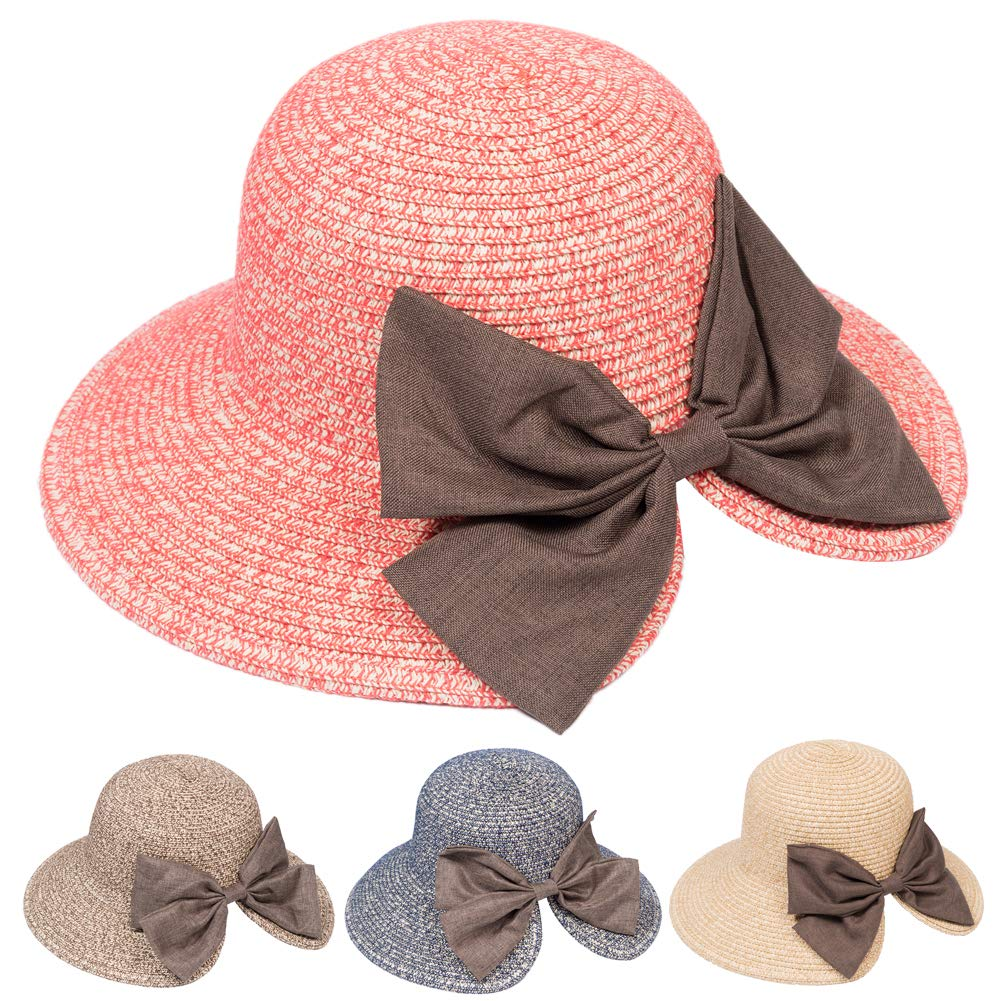 CORIRESHA  Summer Sun Beach Straw Hat