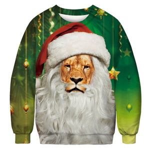 CORIRESHA Christmas Lion Sweatshirt