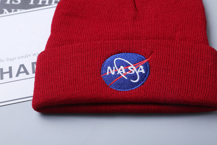 CORIRESHA NASA embroidered Knit Cap