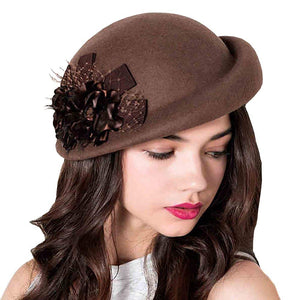 CORIRESHA Flower Beret Cap