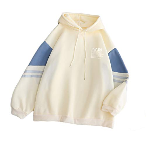 CORIRESHA Color Block NASA Drawstring Hoodie