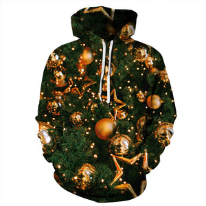 CORIRESHA Merry Christmas Tree Hoodie