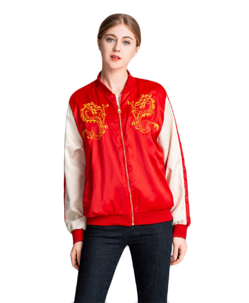 CORIRESHA Dragon Embroidery Jacket