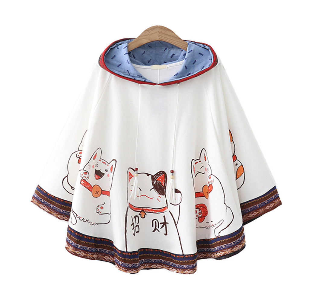 CORIRESHA Girl's Cute Cat Ears Cape