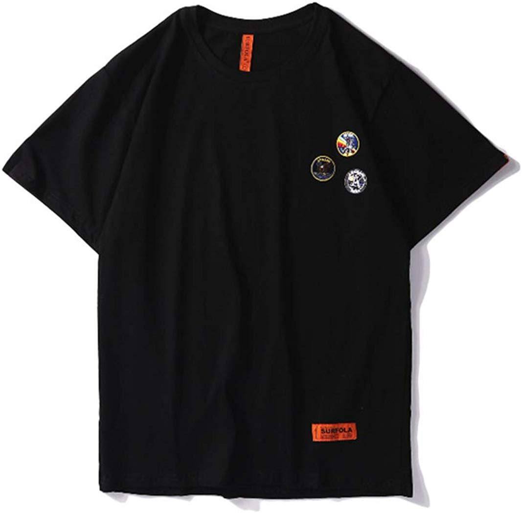 CORIRESHA NASA Embroidery Badge T-Shirt