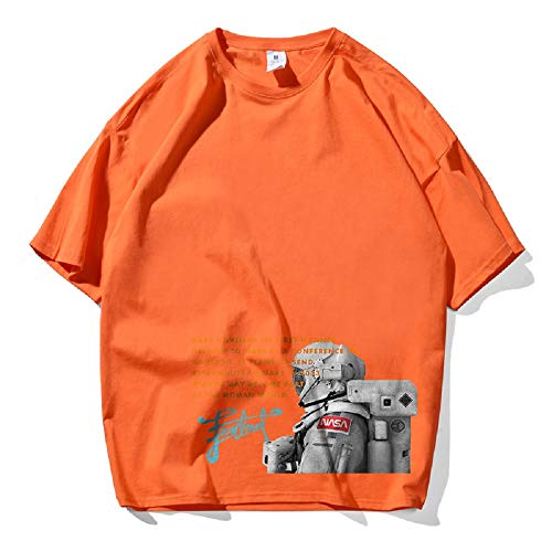 CORIRESHA Astronaut Print Drop Shoulder Plus Size T-Shirt
