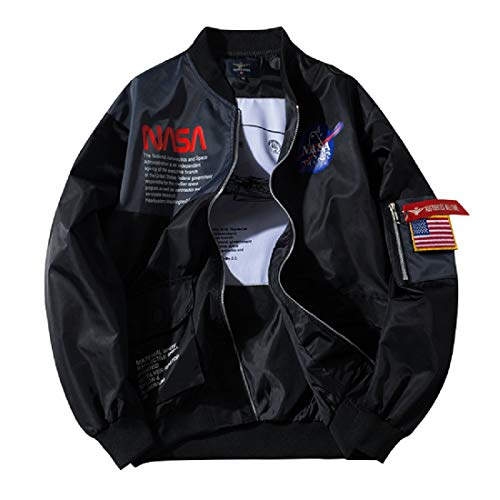 CORIRESHA Apollo NASA Patches Slim Fit Bomber Jackets