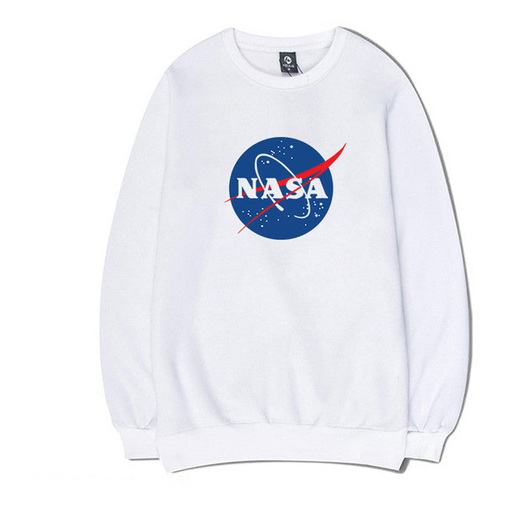 Clearance-Big NASA Logo Pullover Sweatshirt (4 Colors)